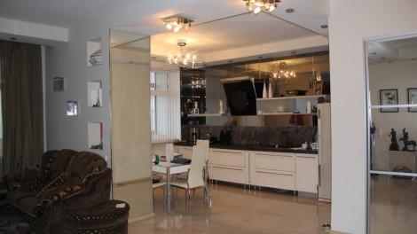 Залив в элитной однокомнатной квартире - кухня