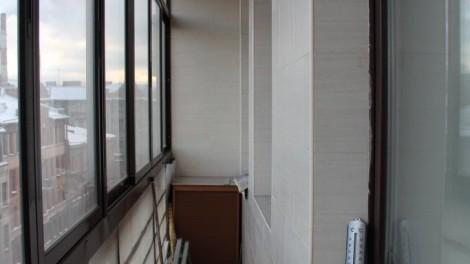 Залив в элитной однокомнатной квартире - балкон