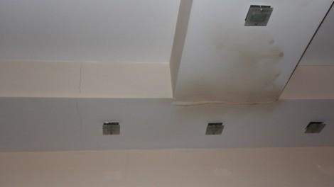 Залив в элитной однокомнатной квартире - подвесной птолок